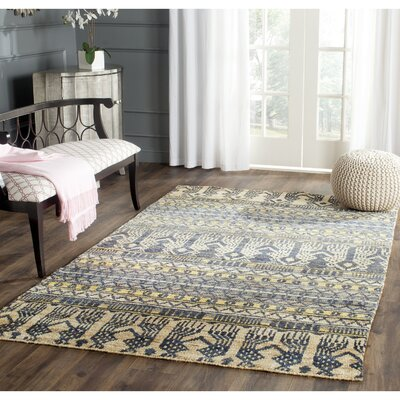 Pinehurst Hand-Knotted Beige Area Rug Rug Size: Rectangle 4 x 6