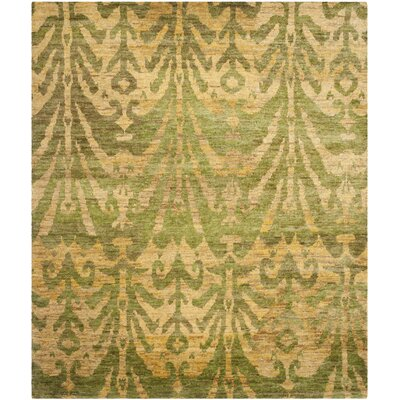 Pinehurst Oriental Green/Gold Area Rug Rug Size: Rectangle 8 x 10