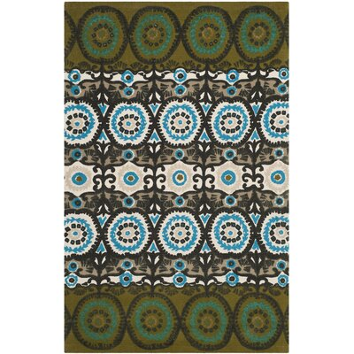 Allison Green / Teal Contemporary Rug