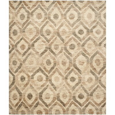 Pinehurst Contemporary Hand-Knotted Beige/Brown Area Rug Rug Size: Rectangle 8 x 10