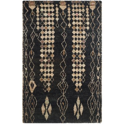 Pinehurst Black/Beige Area Rug Rug Size: Rectangle 5 x 8