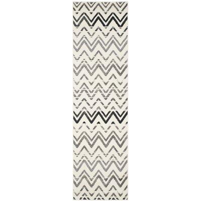 Ameesha Cream & Dark Gray Area Rug Rug Size: Runner 23 x 8