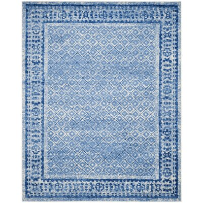 Norwell Silver & Blue Area Rug Rug Size: 51 x 76