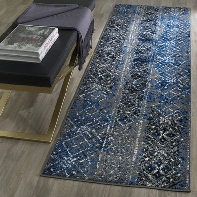 Norwell Silver Area Rug Rug Size: Runner 26 x 8