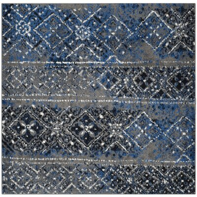 Norwell Silver Area Rug Rug Size: Square 6