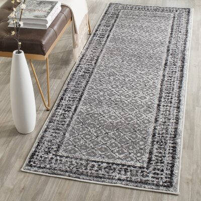 Norwell Ivory / Silver Area Rug Rug Size: Runner 26 x 8