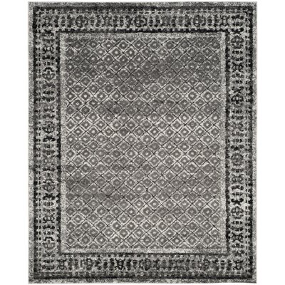 Alisa Ivory / Silver Area Rug Rug Size: 51 x 76