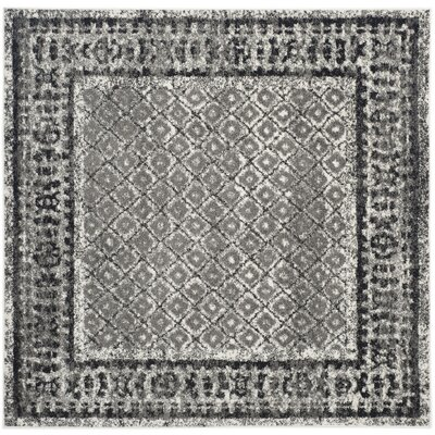 Norwell Ivory / Silver Area Rug Rug Size: Square 6
