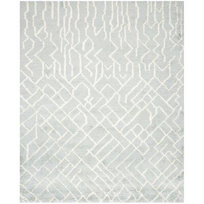 Farrar Shag Blue /Ivory Area Rug Rug Size: 6 x 9