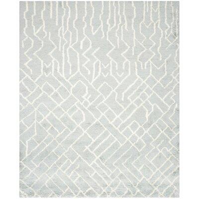 Farrar Shag Blue /Ivory Area Rug Rug Size: 4 x 6