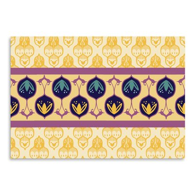 Yellow Turkish Striped Graphic Art