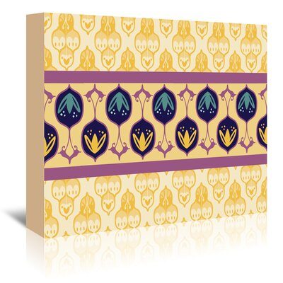 Yellow Turkish Striped Graphic Art on Wrapped Canvas