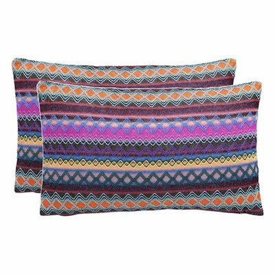 Glenoaks Geometric Throw Pillow Color: Chocolate