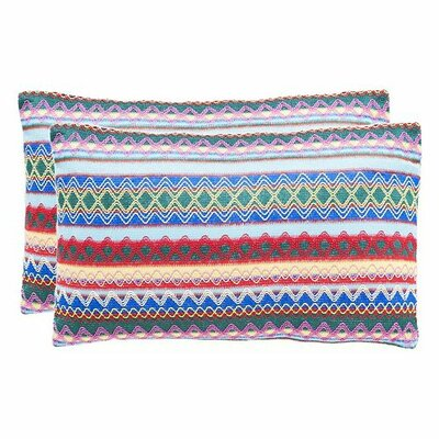 Glenoaks Geometric Throw Pillow Color: Blue