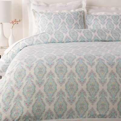 Aqueduct Duvet Cover Color: Aqua, Size: King