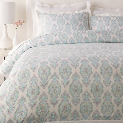 Gandhi Duvet Cover Set Color: Aqua, Size: King