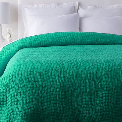 Freeman Quilt Color: Emerald/Kelly Green, Size: King
