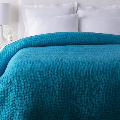 Freeman Quilt Color: Aqua, Size: Twin