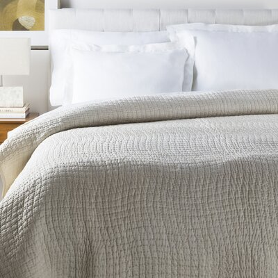 Freeman Quilt Color: Stone, Size: Twin