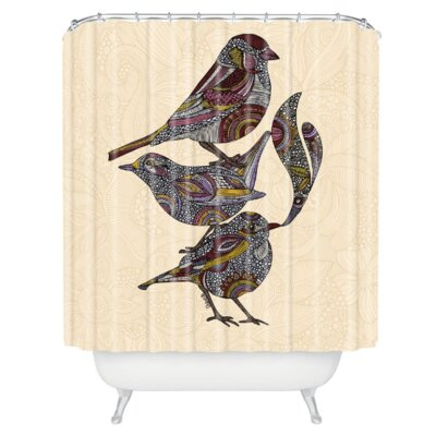 Deepak Woven Polyester 3 Kings Extra Long Shower Curtain