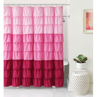Petit Couli Ruffle Shower Curtain Color: Pink