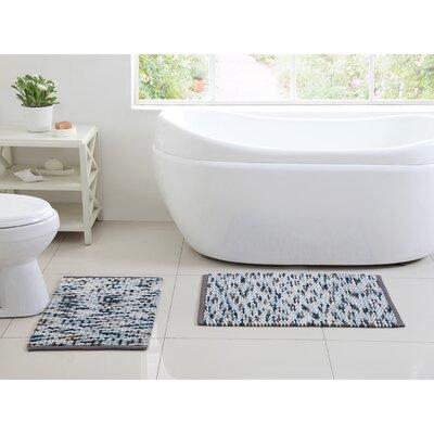 Kehlen 2 Piece Bath Rug Set Color: Blue