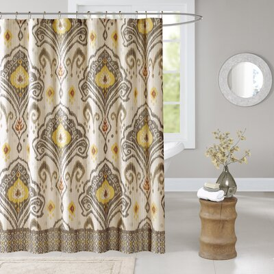 Kassia Shower Curtain Color: Yellow