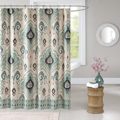 Kassia Shower Curtain Color: Blue