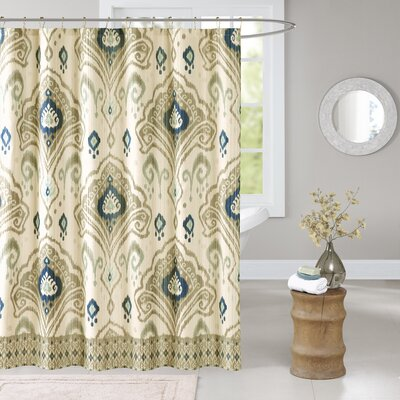 Kassia Shower Curtain Color: Taupe