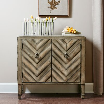 Umana Chevron Accent 2 Door Chest