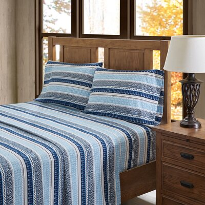 Amol 100% Cotton Flannel Sheet Set Size: California King