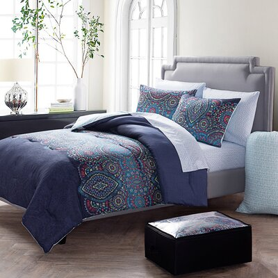 Urrutia Bed in Bag Set Size: Twin XL, Color: Navy