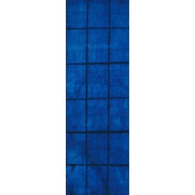 Steinsel Hand Woven Wool Cobalt Area Rug Rug Size: Runner 26 x 8