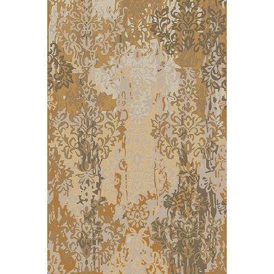 Urrutia Beige/Gold Damask Rug Rug Size: 2 x 3