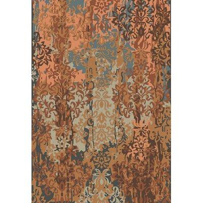 Urrutia Rust/Mocha Damask Rug Rug Size: 2 x 3