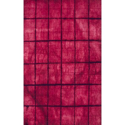 Steinsel Hand-Loomed Bright Pink/Burgundy Area Rug Rug size: Rectangle 2 x 3