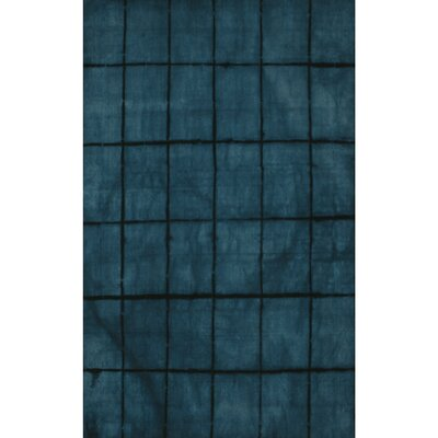 Steinsel Hand-Loomed Dark Blue Area Rug Rug size: Rectangle 5 x 8