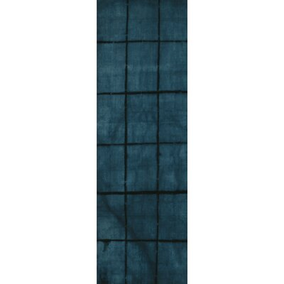 Steinsel Hand-Loomed Dark Blue Area Rug Rug size: Runner 26 x 8