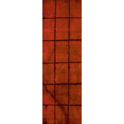 Steinsel Hand-Loomed Burgundy Area Rug