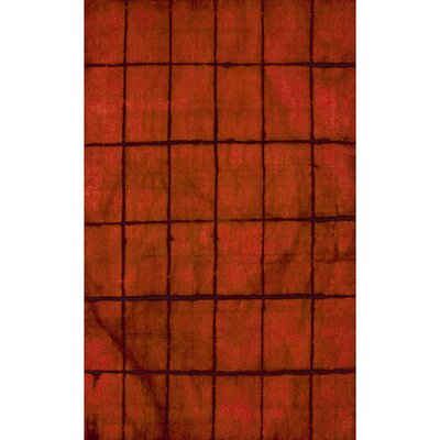 Steinsel Hand-Loomed Burgundy Area Rug Rug size: 33 x 53