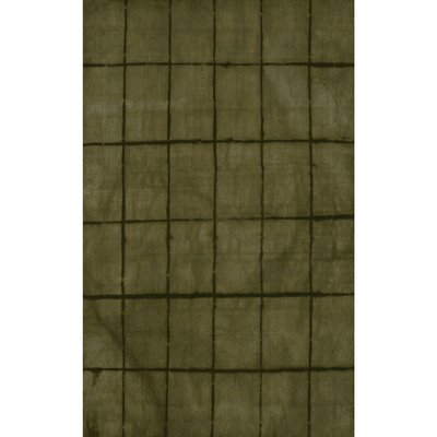Steinsel Hand-Loomed Green/Black Area Rug Rug size: Rectangle 2 x 3