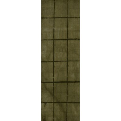 Steinsel Hand-Loomed Green/Black Area Rug Rug size: Runner 26 x 8
