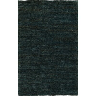 Nondoue Hand-Knotted Dark Green Area Rug Rug size: Rectangle 33 x 53