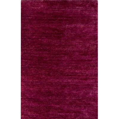Nondoue Hand-Knotted Pink Area Rug Rug Size: Rectangle 5 x 76