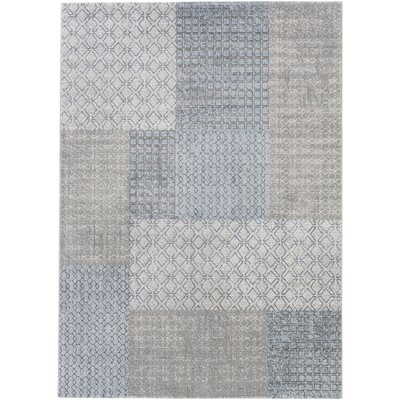 Shenk White/Gray Area Rug Rug Size: Rectangle 3'11