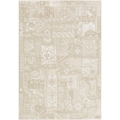 Shenk Brown/Neutral Area Rug Rug Size: 53 x 76