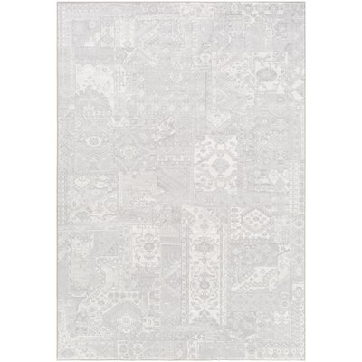 Shenk Gray/Neutral Area Rug Rug Size: 53 x 76