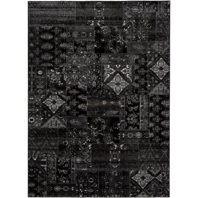 Ulibarri Black/Brown Area Rug Rug Size: Rectangle 53 x 73