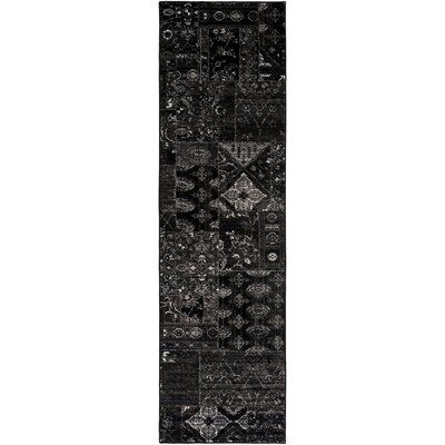 Ulibarri Black/Brown Area Rug Rug Size: Runner 23 x 71