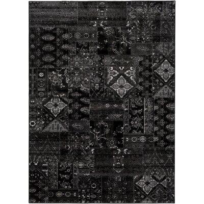 Ulibarri Black/Brown Area Rug Rug Size: 53 x 73